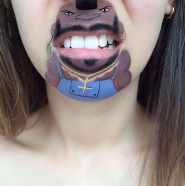 Pop Culture Face Paint Lip Art