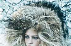 Aesthetic Arctic Editorials - The Vogue US September 2014 Call of the Wild Photoshoot is Frigid