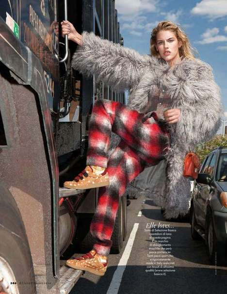Mismatched Street Wear Editorials - The Elle Italia Cocoon Photoshoot Features Multiple Motifs