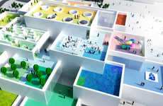 Lifelike LEGO Houses - The Bjarke Ingels Group Builds a Center with the Popular Childhood Toy