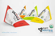Pyramid Juice Packaging - Y Water's Juice Box Designs Revive the Triangular-Shaped Tetra Pack