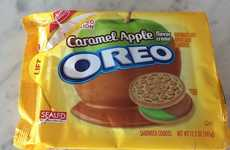 Caramel Apple Cookies - Caramel Apple Oreos Are Half Green Apple and Half Caramel Cream