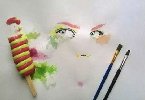 Melted Popsicle Portraits