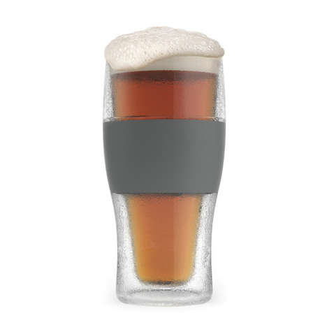 Instantly Chilled Glasses - The Beer Freeze Pint Glasses Quickly Turn Warm Ale Cold
