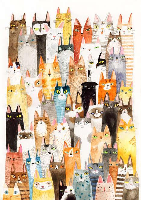 Adorable Feline Collages