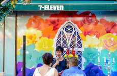 Convenience Store Chapels - During Pride Week in Sweden, 7-Eleven Turned into a Unique Wedding Venue