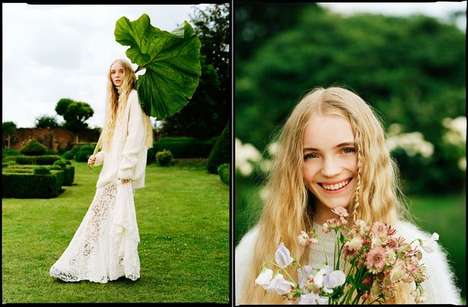 The Teen Vogue English Rose Editorial Features Natural Props