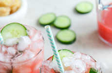 Fruity Ginger Mocktails - These Watermelon Ginger Sparklers from 'How Sweet it Is' are Alcohol-Free