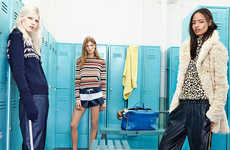 Collegiate Locker Lookbooks - The Latest ZARA TRF Line Focuses on Back to School Fashion