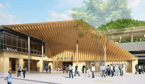 Timber Canopied Train Stations