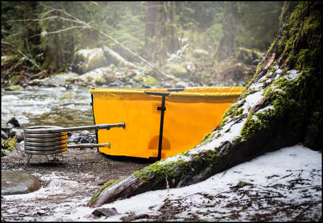 Portable Outdoor Jacuzzis - Have a Soak in the Nomad Collapsible Hot Tub