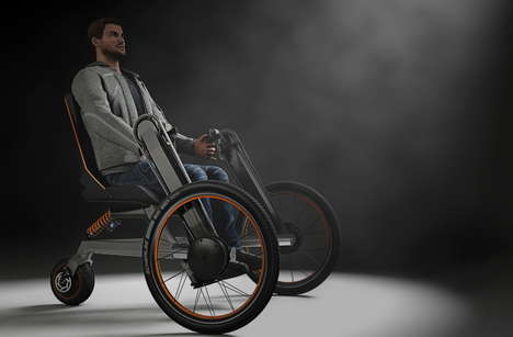 Transforming Paraplegic Bicycles - The eV Electric Wheelchair Can Transform Before Your Very Eyes