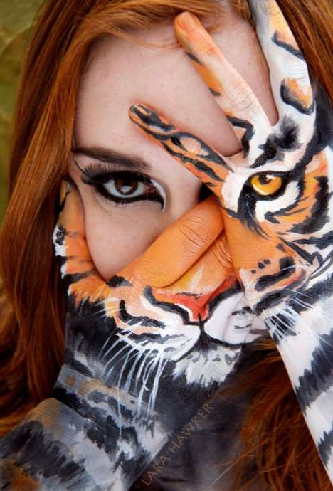 Animalistic Hand Paintings