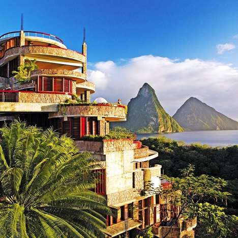 Tropical Mountainside Hotels - The Stunning Jade Mountain is the Most Romantic of St. Lucia Resorts
