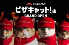 Cat-Operated Pizza Shops - Pizza Cat is a Web Series by Pizza Hut That Replaces Employees with Cats