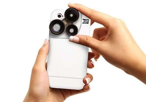 Four-Lense iPhone Attachments - Take it to Another Level with the iZZi Slim iPhone Case
