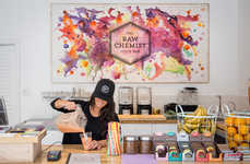 Apothecary-Inspired Juice Shops - This Chemistry-Channeling Raw Juice Bar Blends Science & Healing