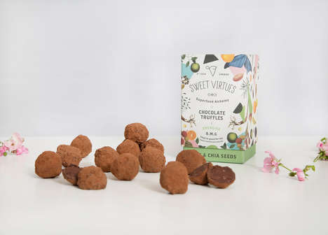 Healthy Indulgent Truffles - Sweet Virtues' Healthy Chocolate Snacks Are Loaded with Superfoods