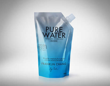 Astronaut-Focused Water Packaging - Makarska Estudio Highlights Memorable Astronauts for Pure Water