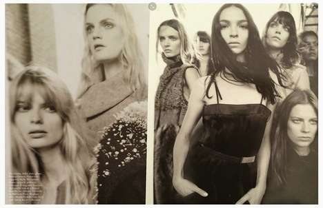Sprawling Supermodel Editorials