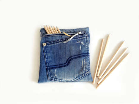Denim Pencil Cases