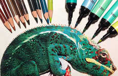 Hyperrealistic Animal Drawings - Karla Mialynne Turns Markers and Pencils into Lifelike Sketches