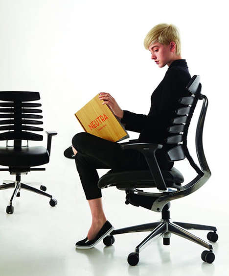 17 Posture-Improving Chairs - From Asymmetrically Molded Seats to Bare-Boned Benches