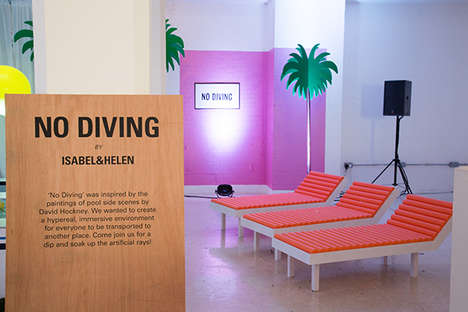 Surreal Poolside Pop-Ups