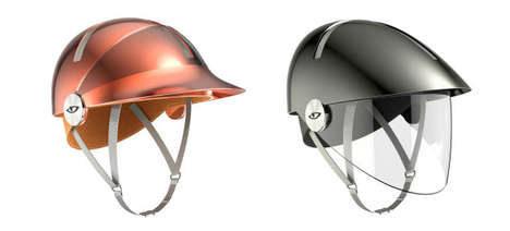 Sleek Bicycle Helmets - These Philippe Starck Bicycle Helmets are Water-Resistant and Anti-Microbial