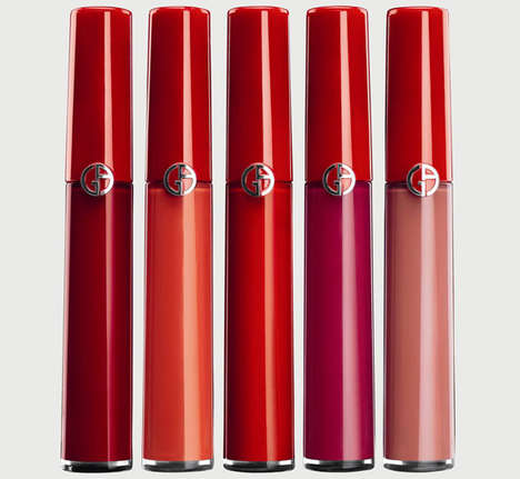 Resilient Designer Lipsticks - The Giorgio Armani Lip Maestro Matte Colors are Super Long-Lasting
