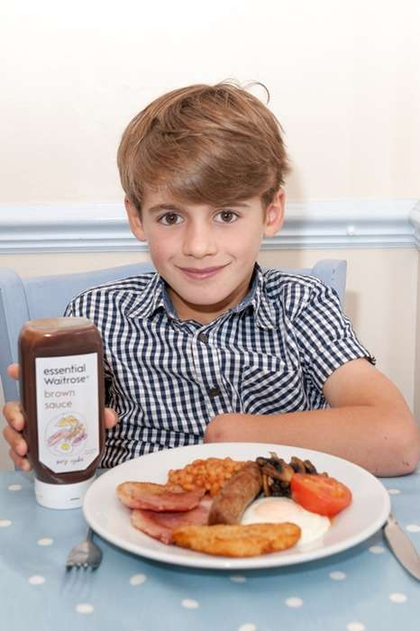 Kid-Designed Packaging - Waitrose's New Brown Sauce Packaging Was Made by a Kid