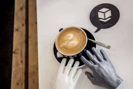 3D Printing Cafes - The MakersCafe Coffee Shop Design Offers Customers a 3D Dining Experience