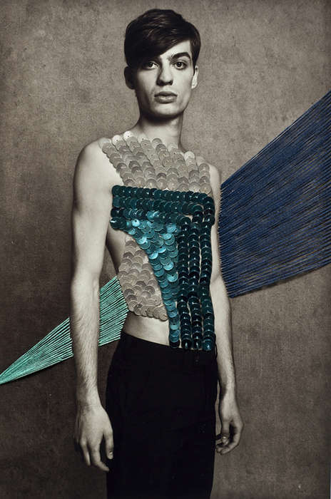 Stitched Sequin Photographs