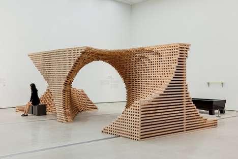 Elemental Wooden Installations