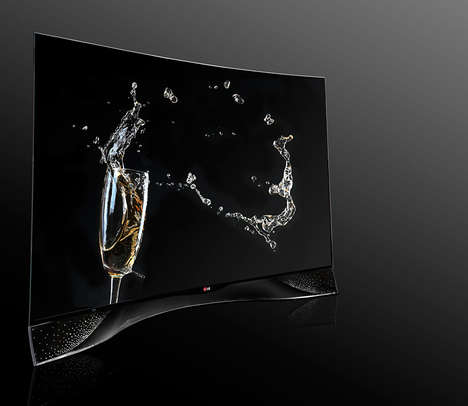 Diamond-Encrusted TVs - The LG Swarovski Limited Edition Curved OLED TV is a Work of Art