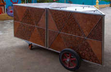 Coconut-Crafted Carts - The COIR Mobile Cart Is Constructed Out of Tropical Coconuts