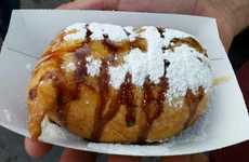Chocolate Bacon Twinkies - This Food Fair Twinkie is Deep Fried and Filled with Bacon
