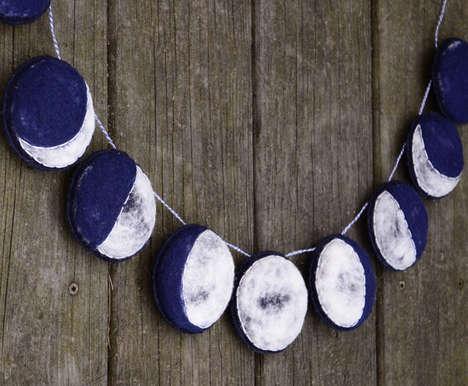 Handmade Moon Phase Decor