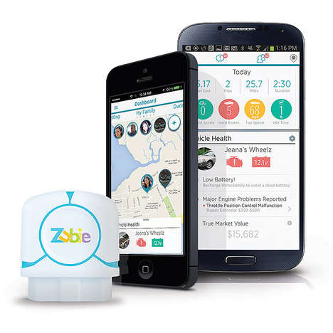 App-Connected Car Trackers - Zubie Keeps Tabs on Driving Habits and Automotive Health