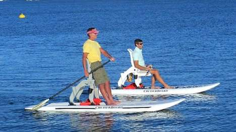Paddleboard-Kayak Hybrids - The CruiserBoard Allows You to Paddle While Standing or Seated
