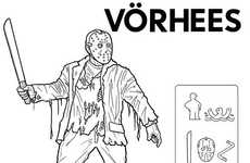 Movie Monster Guides - Ed Harrington Breaks Down Classic Villains in an Ikea Manual Style