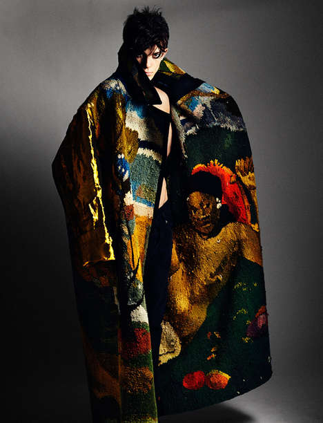Artful Tapestry Attire - Manuscript Magazine's Art Issue Features Cover Star Matthieu Gregoire