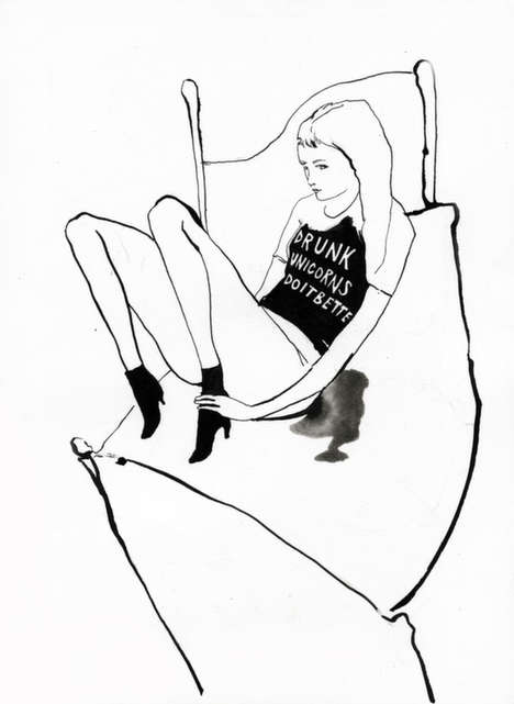 Wicked Graphic Tee Illustrations - Artist Amanda Manitach Addresses Gender Roles and Femininism