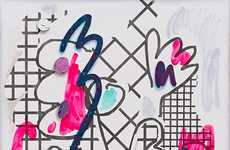 Scribbled Pop Art Canvases