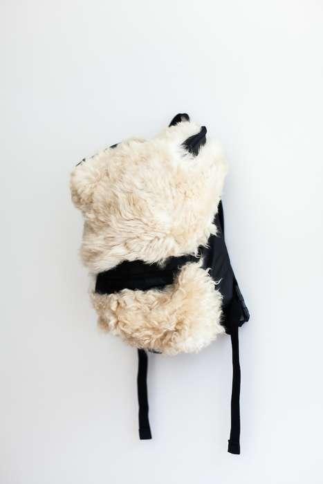 Designer Shearling Backpacks