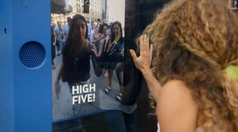 Remote High-Five Challenges - KLM's Fun Campaign Challenged People to Virtually High Five Someone