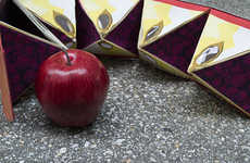 Hybrid Fruit Packaging - This Apple Box Packaging Holds a Grape-Infused Apple