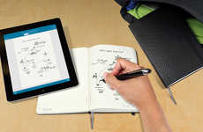 Digitized Notebook Partnerships - The Moleskine Livescribe Notebook Transfers Your Ideas to the App