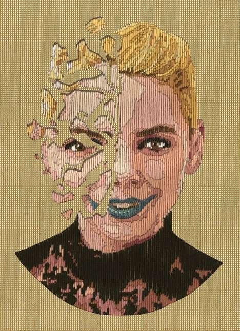 Hand-Stitched Portraits