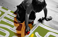 Personalized Neighborhood Mats - The 'I Am Here' Map Familiarizes Kids with Their Surroundings